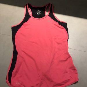 Nike pink and black Tank top